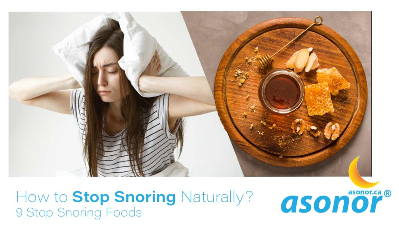 stop snoring foods